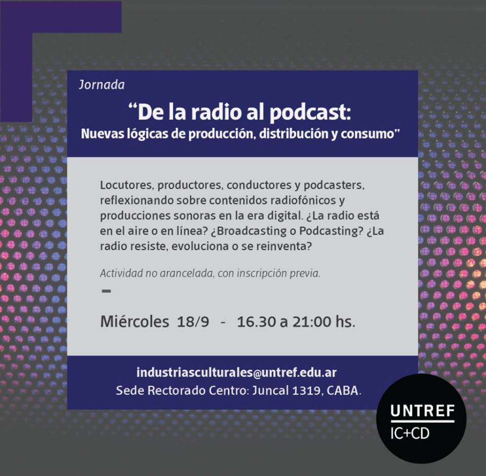 Jornada: «De la Radio al Podcast»
